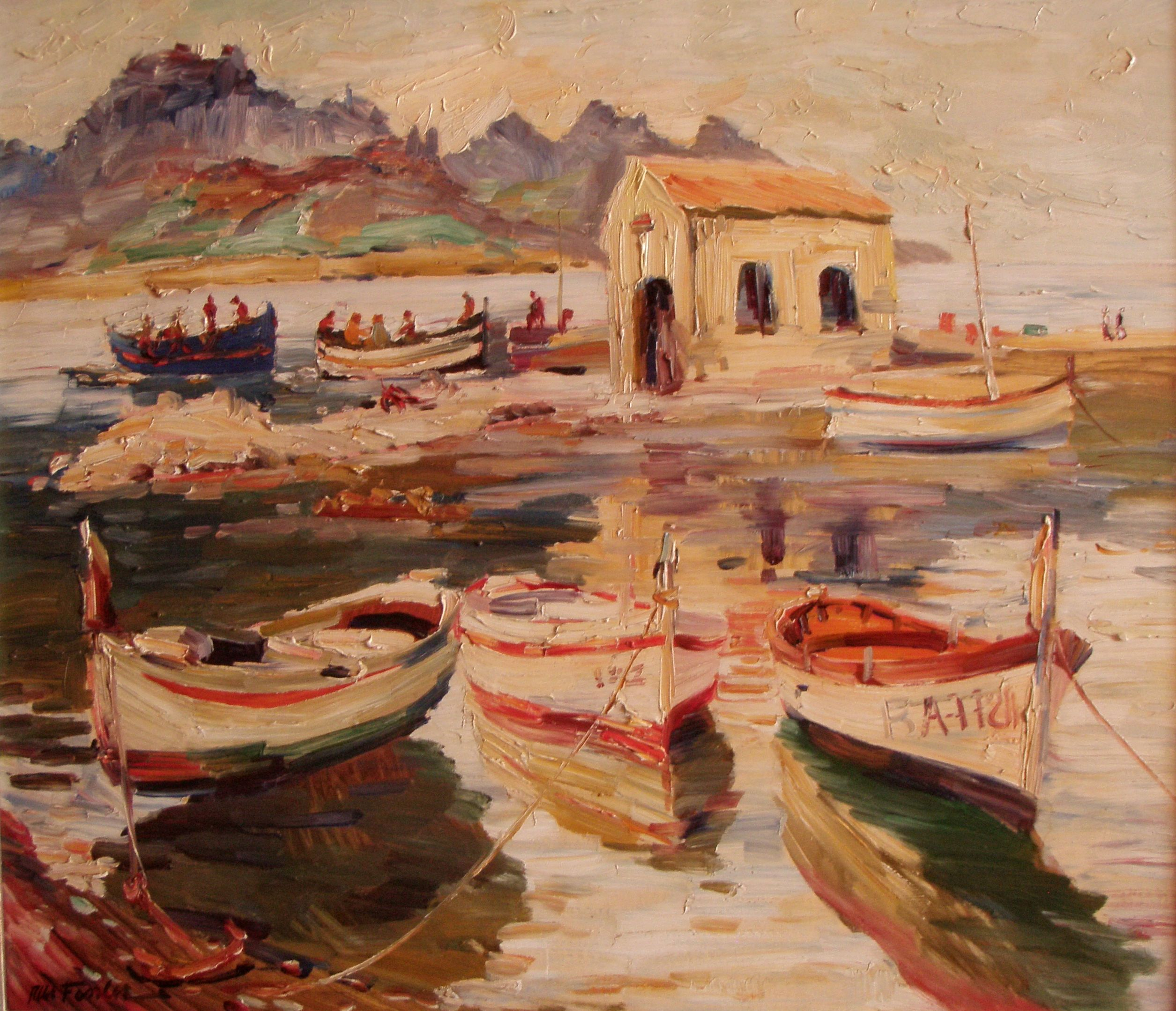 Albert Fessler (1908 - 1978) -  Port de Selva - Kapelle am Hafen 1968 - 89 € mtl./K 1450 €