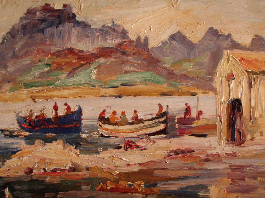 Albert Fessler (1908 - 1978) -  Port de Selva - Kapelle am Hafen 1968 - Detail - 89 € mtl./K 1450 €
